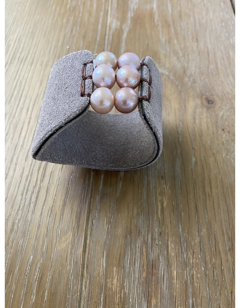 Fait Main Hand Made Fait Main Multi Pearl Cuff