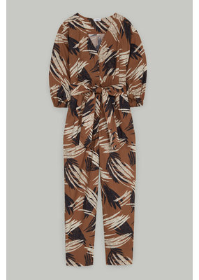 Closed Leaf Print Jumpsuit
