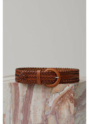Closed Thick Leather Braided Belt