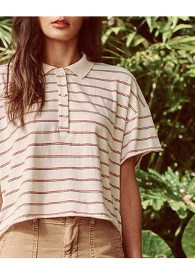 The Great The Cropped Boxy Polo Tee