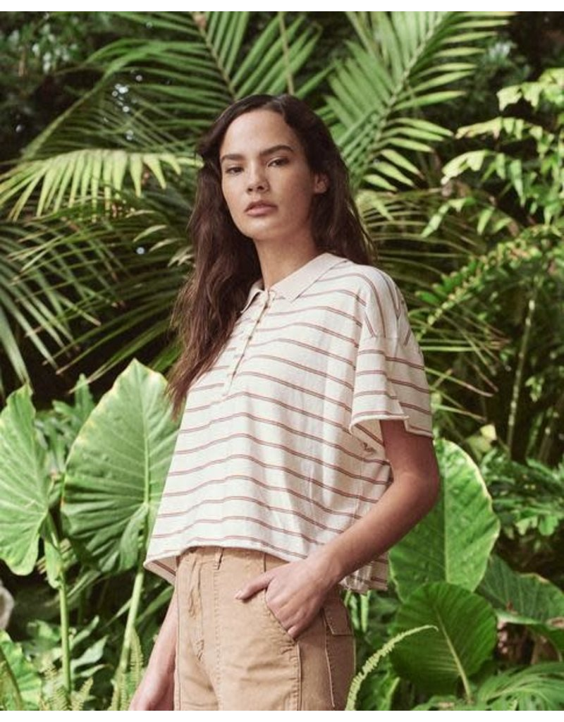 The Great The Great Cropped Boxy Polo Tee