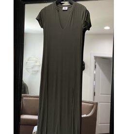 LNA Easy Rib Tee Dress
