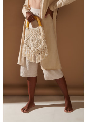 Nannacay Lotus Fringe Bag