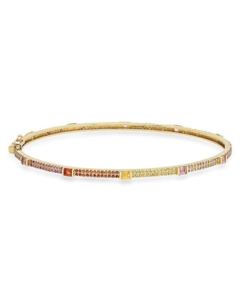 Jen Hansen Jen Hansen Rainbow Sapphire Bracelet