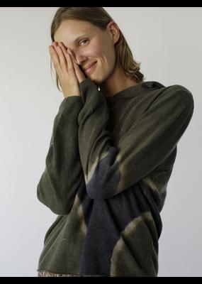 Raquel Allegra Recycled Cashmere Crop Hoodie