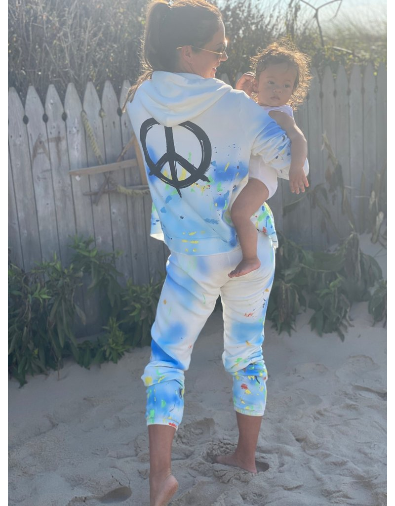 Lauren Moshi Lauren Moshi Gia Brush Peace Sweatpant