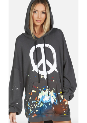 Lauren Moshi Desiree Brush Peace Hoodie