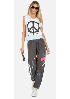 Lauren Moshi Lauren Moshi Tanzy Brush Peace Sweatpant