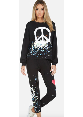 Lauren Moshi Sierra Brush Peace Crew Neck