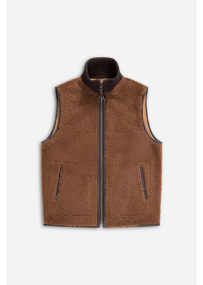 Closed Reversible Lambskin Vest