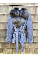 Di Bello Di Bello Meloria Shearling Coat w/ Fox Fur