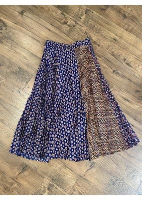 Clu Multi-Color Pleated Skirt
