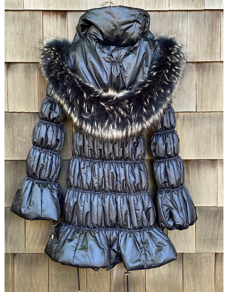 Di Bello Di Bello Tessuto Puffer With Fox Fur