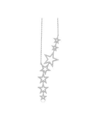 Nicki Roxx Jagger Floating Open Stars Necklace