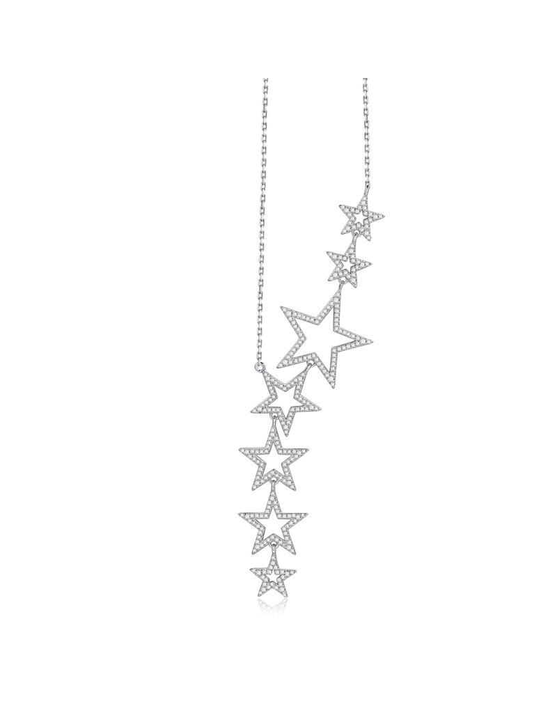 Nicki Roxx Nicki Roxx Jagger Floating Open Stars Necklace