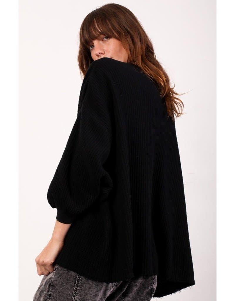 Aquarius Cocktail AQC Heidi 3/4 Sleeve Oversized Sweatshirt