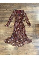 Love Sam Love Sam Moroccan Paisley Wrap Dress