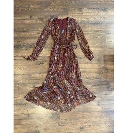 Love Sam Moroccan Paisley Wrap Dress