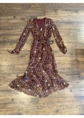 Love Sam Moroccan Paisley Wrap Dress