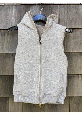Suprema Reversible Shearling Knit Vest
