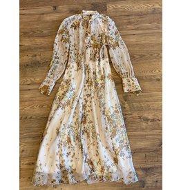Caliban Neutral Floral Dress