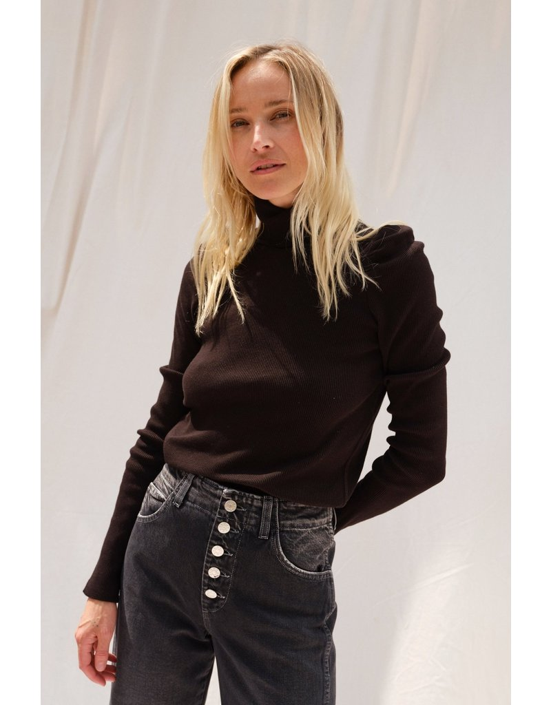 AMO AMO Puff Sleeve Turtleneck