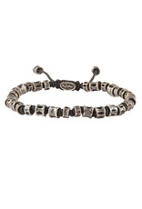 M.cohen M.Cohen Jointed Oxidized Casted Fishbone bracelet