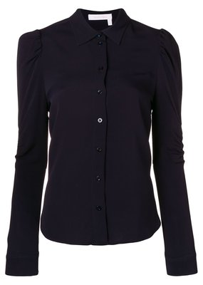 See By Chloe Puff Sleeve Button Down