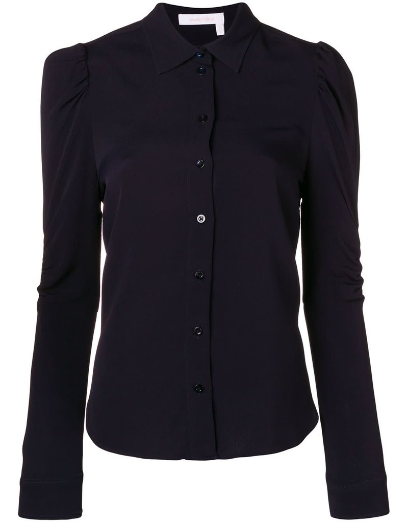 See By Chloe See By Chloe Puff Sleeve Button Down