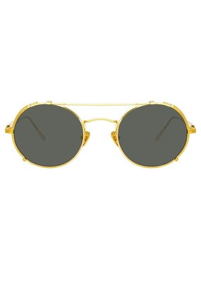 Linda Farrow Jimi Oval Sunglasses