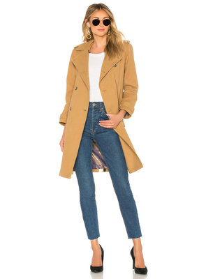 Le Superbe Striped Belted Trench Coat