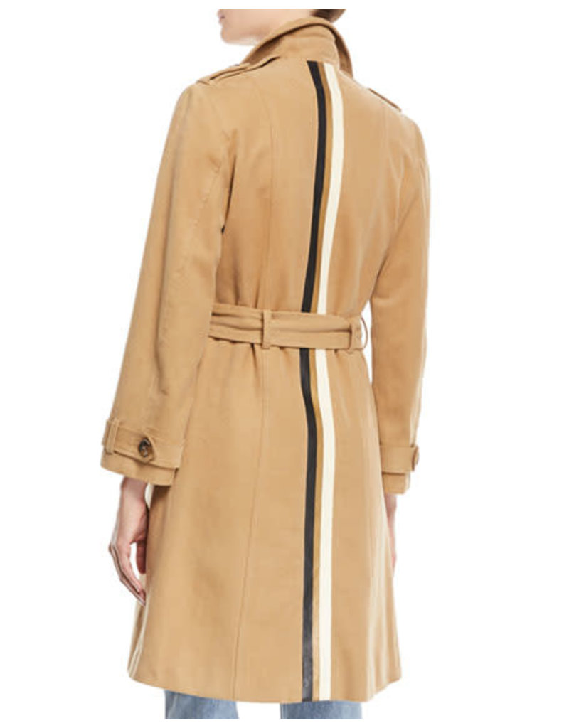 Le Superbe Le Superbe Striped Belted Trench Coat