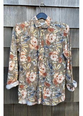 Tintoria Mattei Floral Button Down