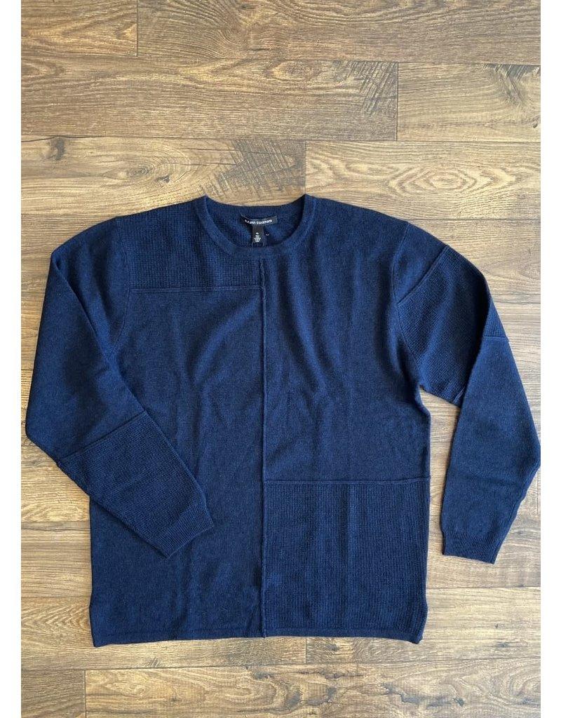 Autumn Cashmere Autumn Cashmere Patchwork Crew Sweater