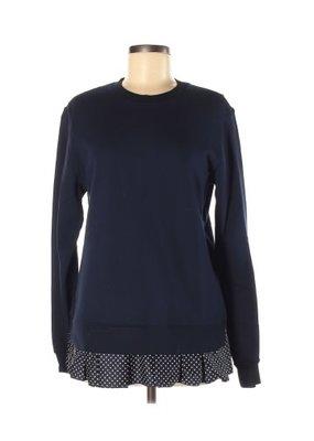 Clu Too Polka Dot Ruffled Sweatshirt