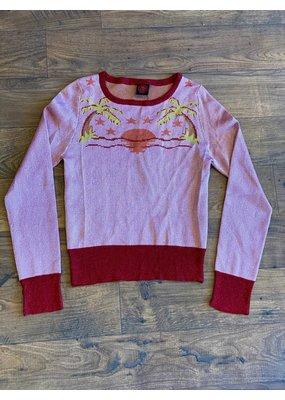 Happy Sheep Round Neck Short Sweater