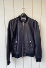 Closed Closed Leather Bomber Jacket