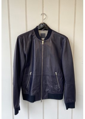 Closed Leather Bomber Jacket