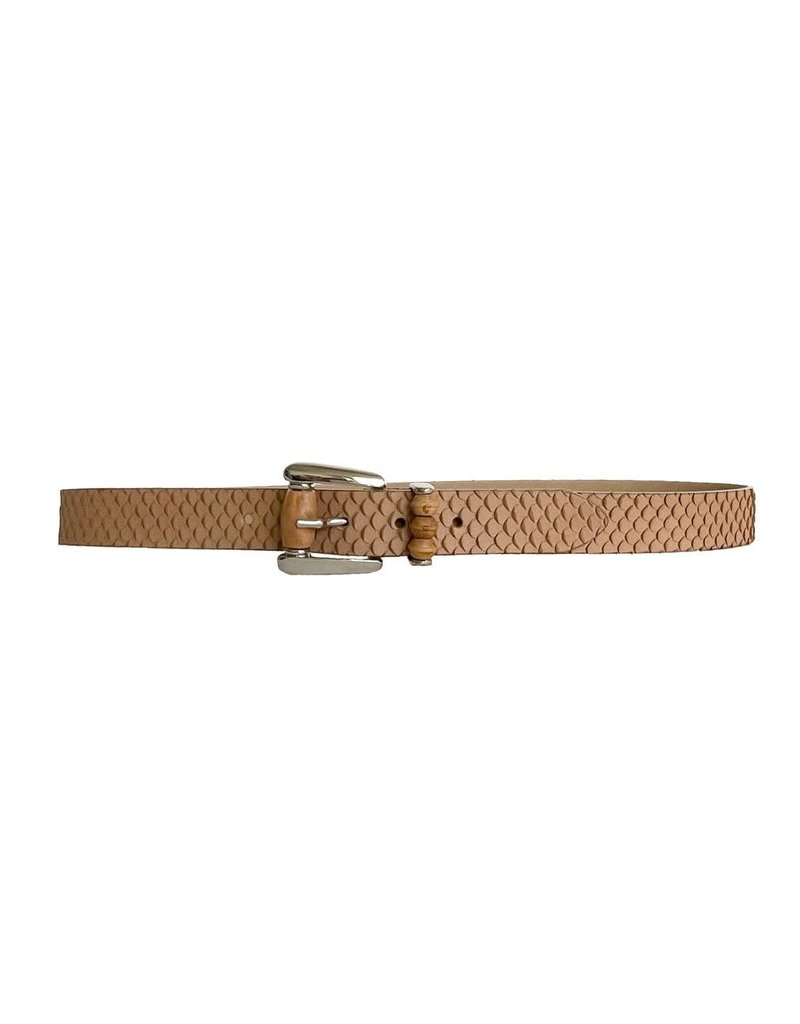 Streets Ahead Streets Ahead  One Inch Silver  Wood Belt