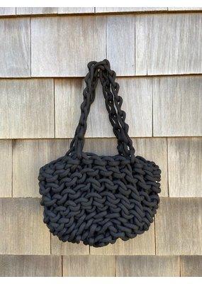 Alienina Woven Handle Bag Black