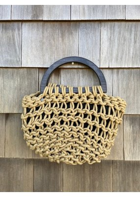 Alienina Basket Clutch with Wooden Handle
