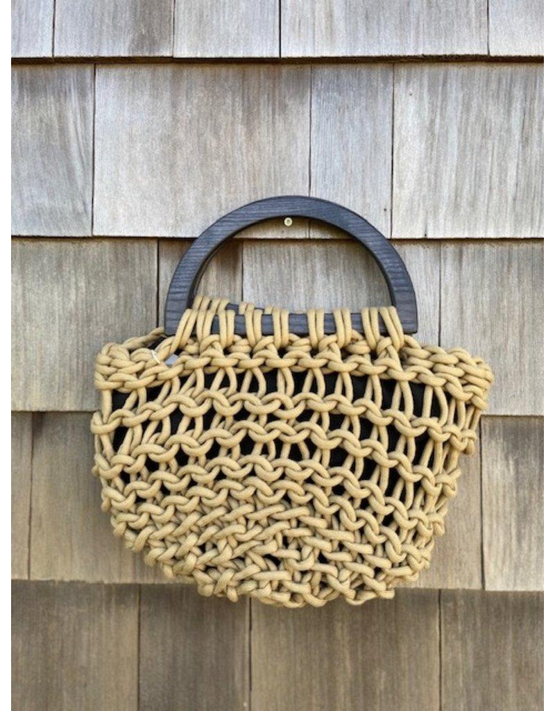 Alienina Alienina Basket Clutch with Wooden Handle