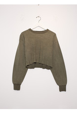 John Elliott John Elliott Ribbed Terry Cropped Sweatshirt Brush