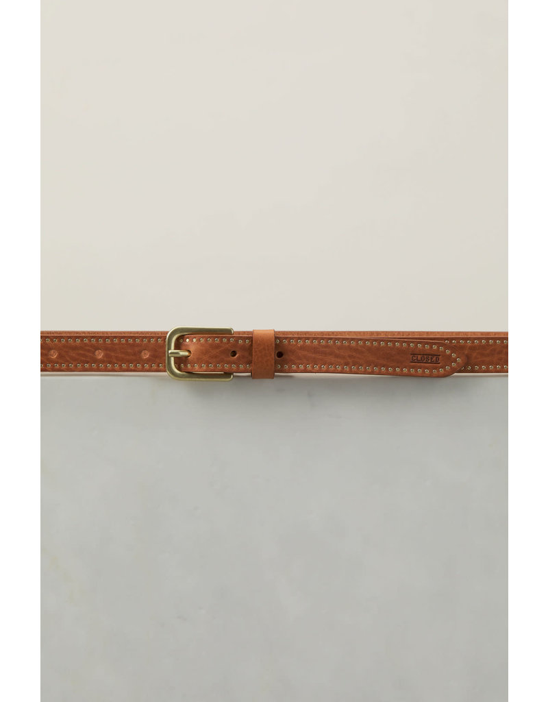 Closed Closed Leather Belt Caramel