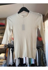 6397 6397 3/4 Sleeve Ribbed Top