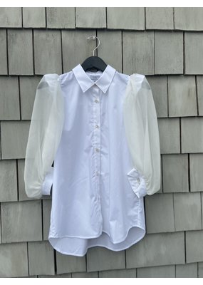 Clu Puff Silk Sleeve Shirt
