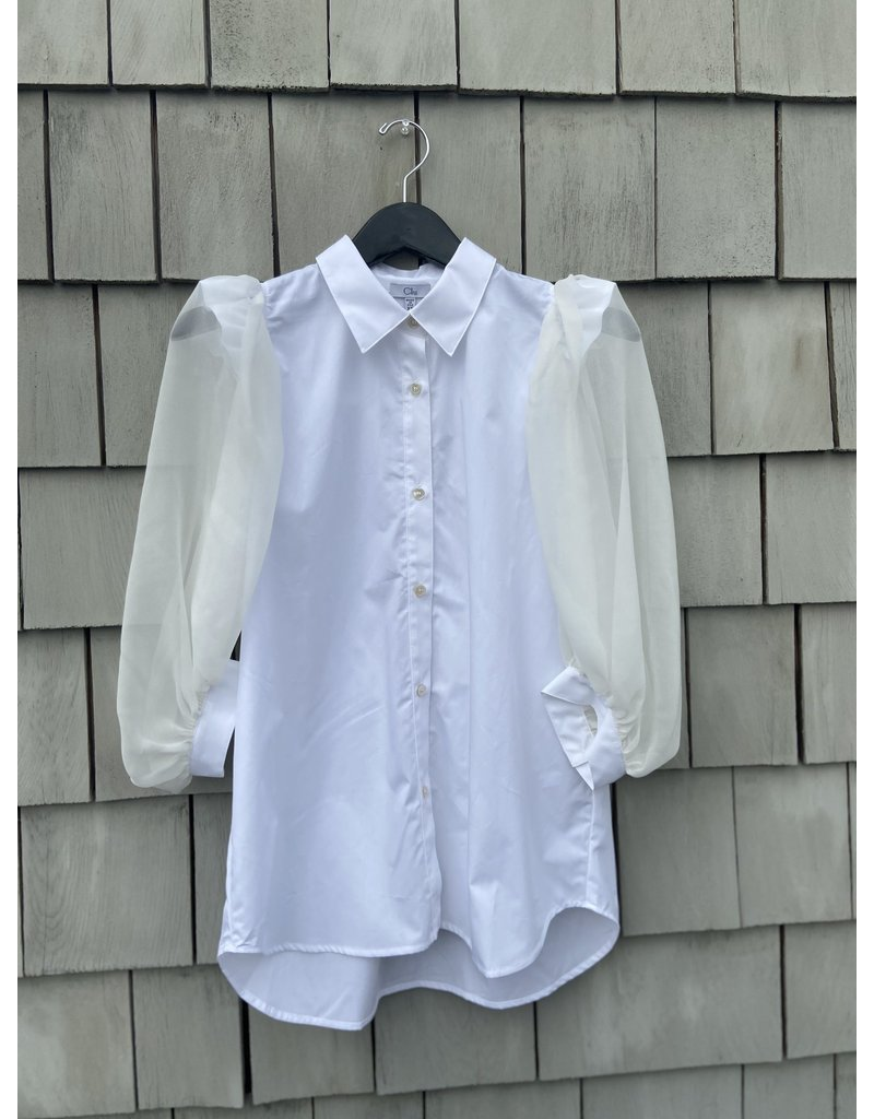 Clu Clu Puff Silk Sleeve Shirt