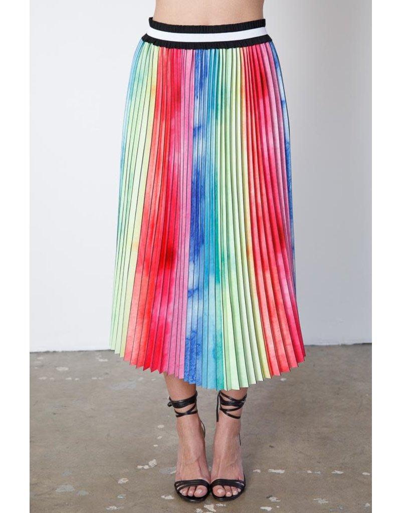 Le Superbe Le Superbe Rainbow Pleated Skirt