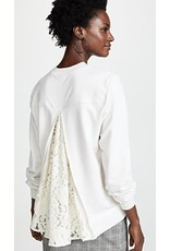Clu Clu lace trimmed sweatshirt