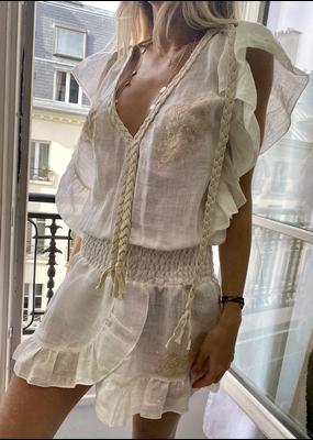 Vanita Rosa Joe Dress Linen Ivory